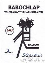 Babochlap 2013 v Adamově - diplom pro Kočky z Brna