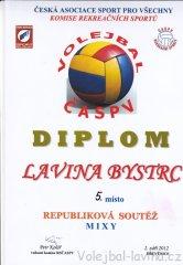 Volejbalové Dřevěnice 2012 - diplom