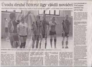 Rozhovor s kapitánem Laviny v Brněnském deníku.